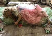 """32"""" sleeping fairy in 40"""" pillow 2 small fairy's make offer Homestead, 33032"""