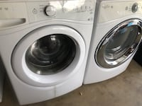 white front load washing machine and dryer Lancaster, 93536