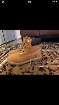 Pair of wheat nubuck timberland waterproof  work boots Fairfax, 22033