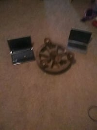 Two laptops and old timing light wheel  Wetumpka