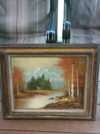 brown wooden framed painting of trees Maryville