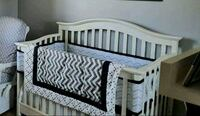 Like new!! All white Crib with mattress Bakersfield, 93313