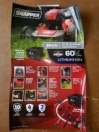 Like New - Snapper Cordless Mower Inverness, 34452