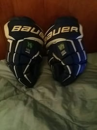 black-and-white Bauer gloves Burnaby, V3J 0A4