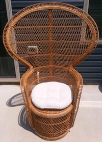 Wicker Peacock Adult Chair Rattan Fan Back With Pa Chambersburg, 17201