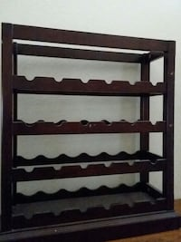 brown wooden 4-layered rack