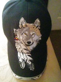 black and wolf graphic hat Roanoke, 24013