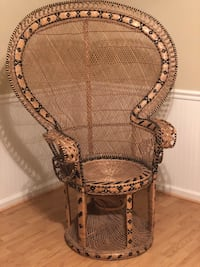 Vintage Rattan Wicker Peacock Cobra BOHO Chair Washington, 20024