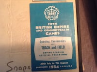 British Empire Games. Program 1954 Bannister - Landy Miracle Mile VANCOUVER