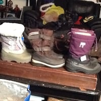 three pairs of boots