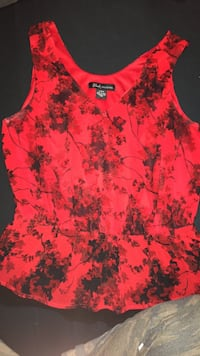 women's red and black floral sleeveless dress Edmonton, T5Y 3C8