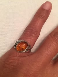 Amber and Sterling Silver Ring Lorton, 22079