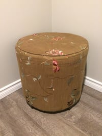 round brown suede ottoman Barrie, L4N 1N1