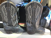 pair of black leather cowboy boots San Angelo, 76903