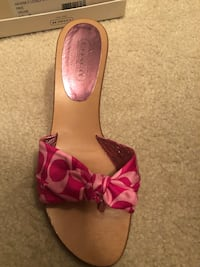 Coach wedge Sandals-worn only a few times