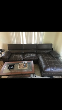 black leather sectional sofa screenshot Gaithersburg, 20882