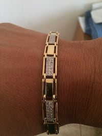 14k solid gold with diamonds men's bracelet Long Beach, 90814