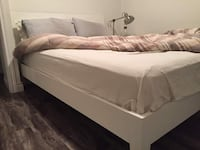 Beautiful Ikea White Queen Bed Frame - Free Delivery Toronto, M5A 0E5