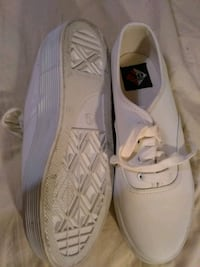 no boundaries white leather platform tennis shoes size 8 1/2