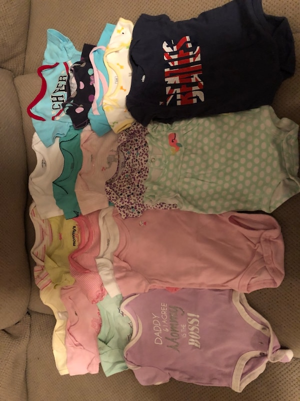0-3 month baby girls assorted clothes - summer lot