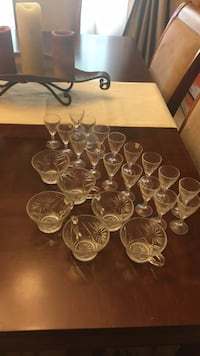 clear glass punch bowl set Metairie, 70005