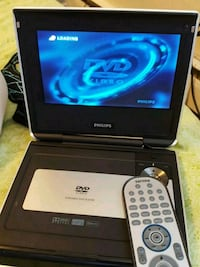 black and silver Philips portable DVD player with remote Edmonton, T5E 5V5