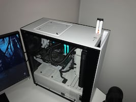 Custom white gaming pc