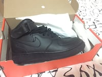 Nike Air Force 1 alta nera con scatola Napoli, 80147