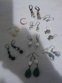 assorted-color pair of earrings lot