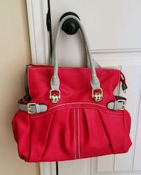 red and white leather tote bag Corpus Christi, 78413