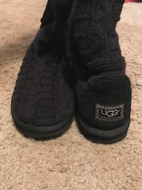 Pair of black UGG Boots size 8