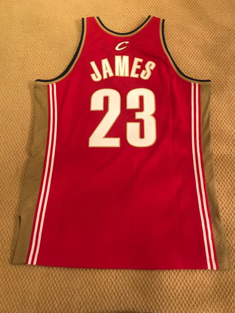 ... czech authentic lebron james swingman jersey 2003 2004 cleveland  cavaliers size large mitchell ness bf6a2 386f5 10076bcac
