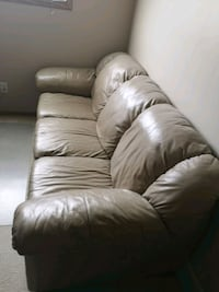Beige italian leather couch and loveseat Calgary, T3K 4S7