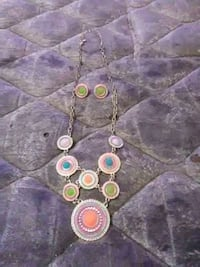 silver, purple and pink necklace and stud earrings Ormond Beach, 32174