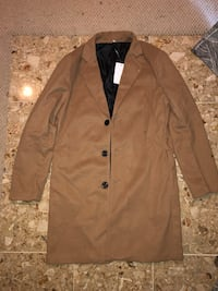 Men's Tan Peacoat Trenchcoat Washington, 20032