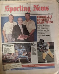 Sporting News featuring Redskins front office 9/12/1988 Chicago