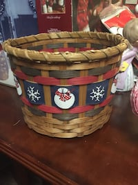 Brown and red wicker basket Frederick, 21701