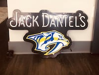 Jack Daniels Nashville Predators light up sign Nashville, 37208