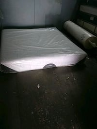 white and black mattress and black bed frame Opa-locka, 33054