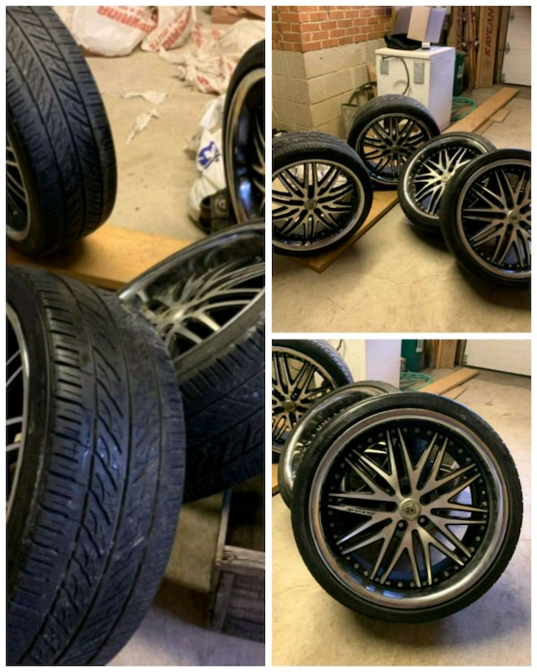 "Lexati rims 20"" 5 bolts with all lock nuts 20 of t"