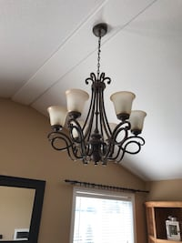 Large 6 light Chandelier and matching pendant light Hamilton, L0R 1C0