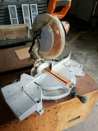 "Mitter Saw Ridgid 10"" for sale. Works great. Vaughan"