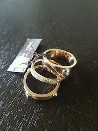 Henri Bendel, Rose Gold Trio Ring Set