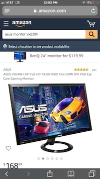 asus monitor 23.5 inch vx238h