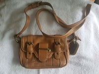 brown leather 2-way handbag Brampton, L7A 0R8