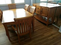 brown wooden dining table set Quartz Hill, 93536