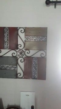 brown and black metal wall decoration. Gilmer, 75645