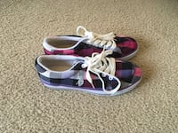U.S. Polo Colorful Plaid Sneakers(Size 7) Silver Spring