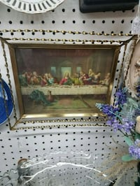Vintage Last supper tray picture