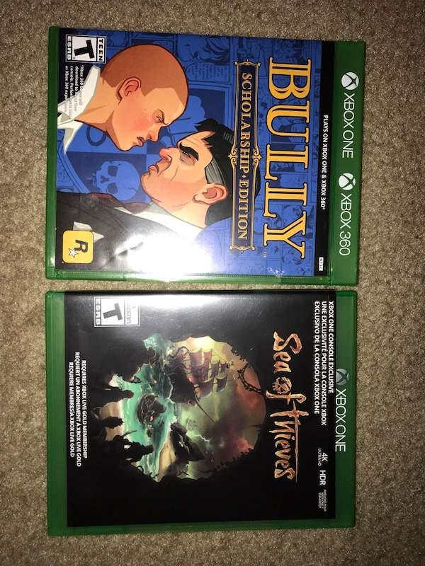 Sea of thieves & Bully Scholarship Edition Xbox One